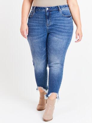 "Incrediflex 26"" Raw Hem Skinny Jeans - Altar'd State"