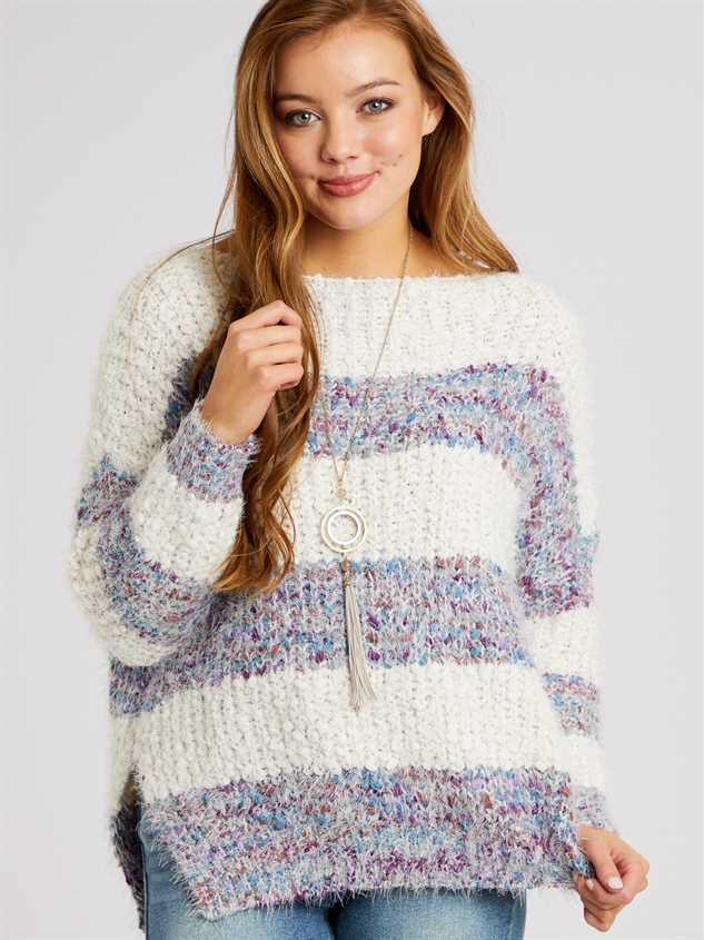 Lovely Lash Marled Sweater Detail 3 - Altar'd State