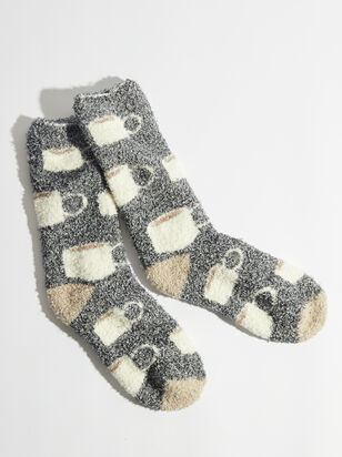 Coffee Cup Cozy Socks - Altar'd State