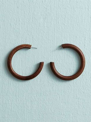Wooden Hoop Earrings - Altar'd State