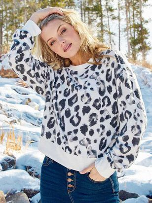Cozy Leopard Top - Altar'd State