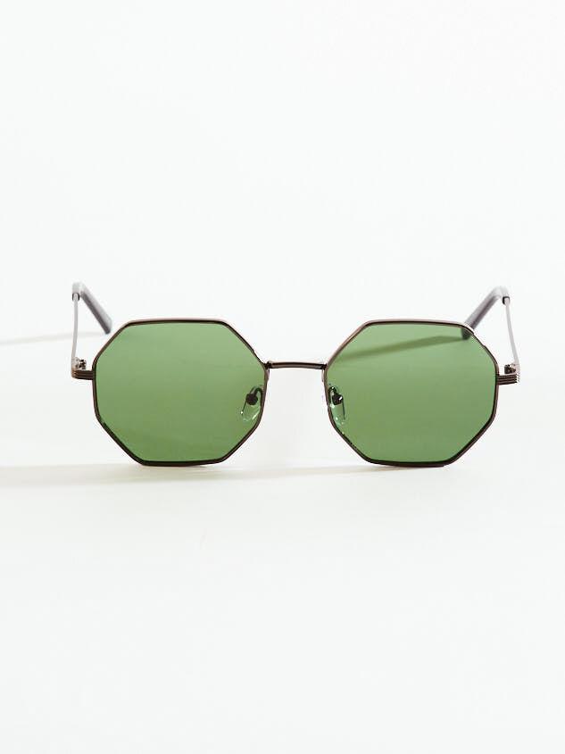 Baldwin Octagonal Sunglasses Detail 1 - Altar'd State