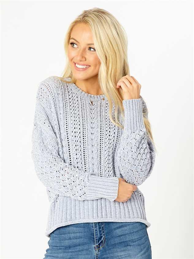 Myra Chenille Sweater - Altar'd State