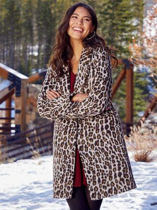 Leopard Pea Coat - Altar'd State