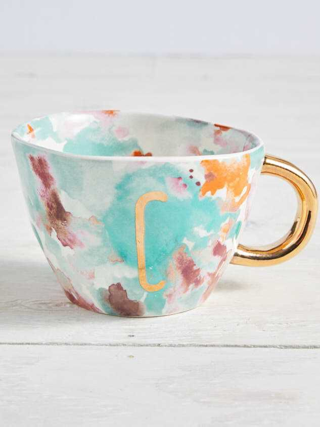 Hello Beautiful Monogram Mug - C - Altar'd State