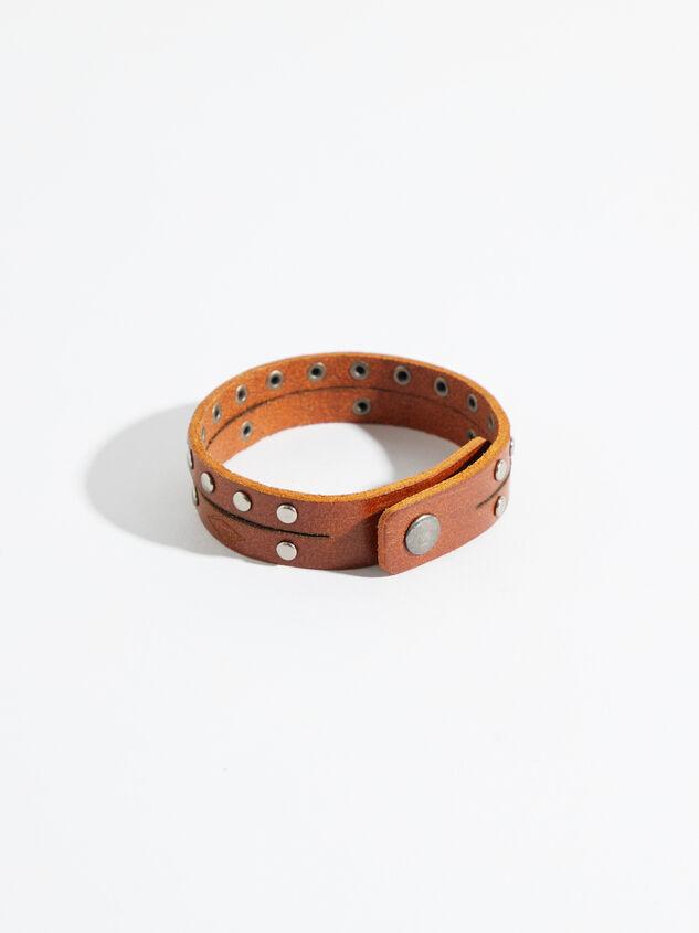 Double Strand Leather Bracelet Detail 2 - Altar'd State