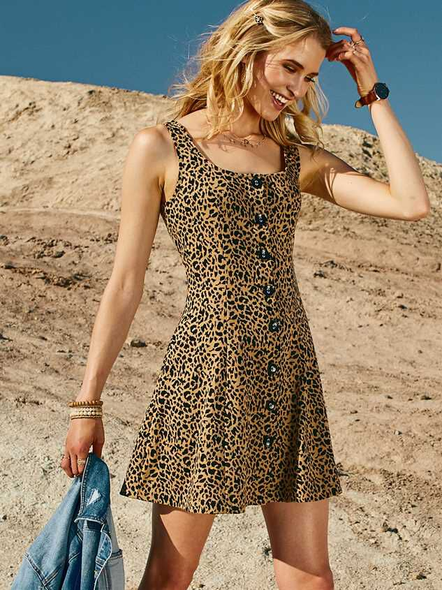 Lula Leopard Dress - Altar'd State