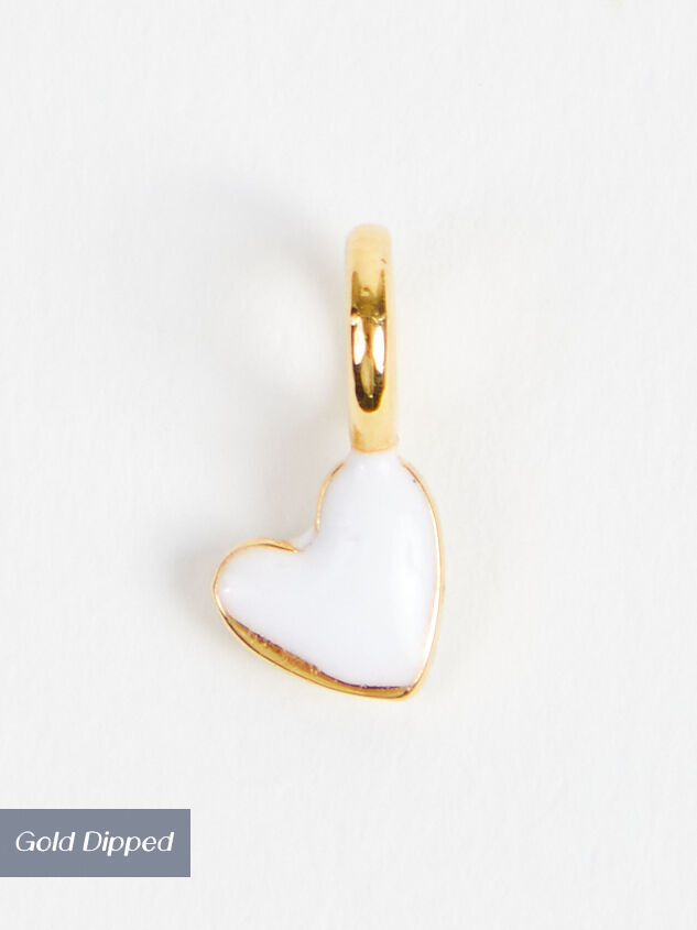 18k Gold White Mini Heart Charm - Altar'd State
