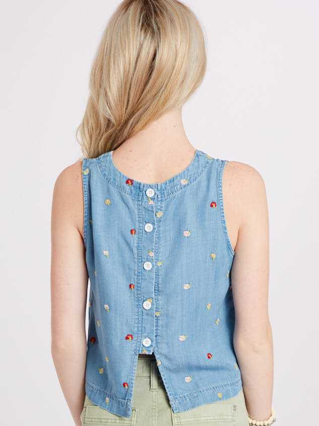 Sweet Chambray Top Detail 3 - Altar'd State