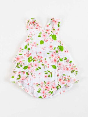 Tullabee Cherry Blossom Ruffle Sunsuit - Altar'd State