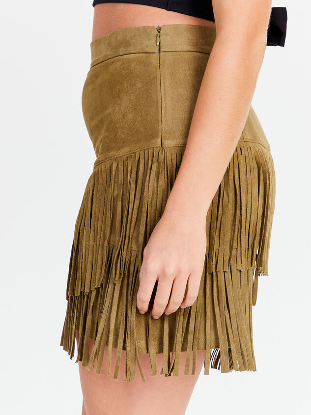 Fearless Fringe Suede Skirt Detail 2 - Altar'd State