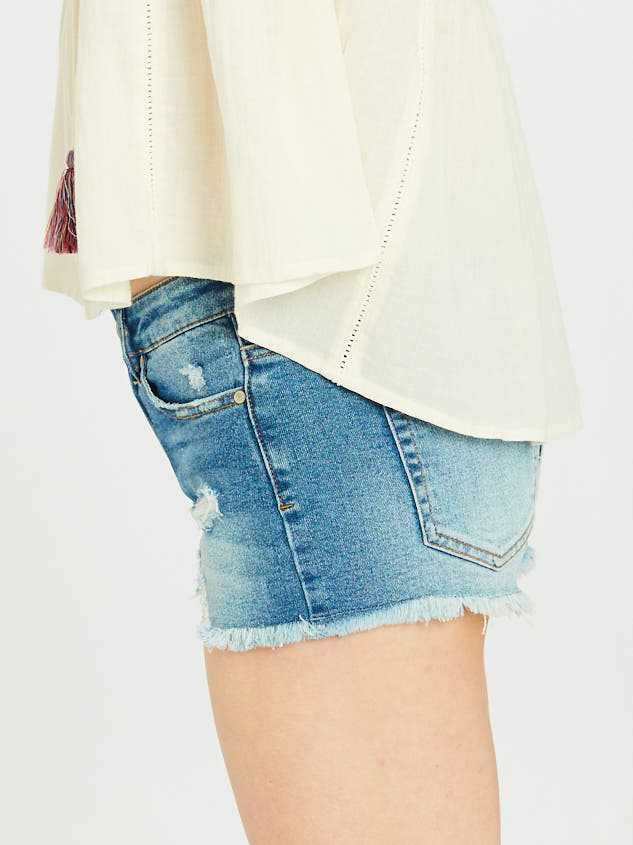 Norris Denim Shorts Detail 4 - Altar'd State