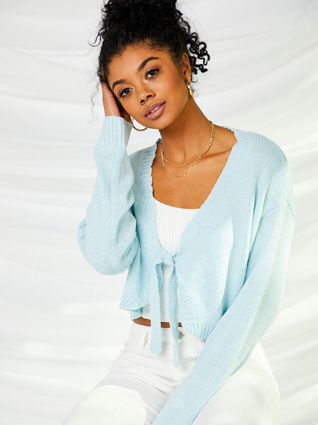 Tie Front Cropped Cardigan - Altar'd State