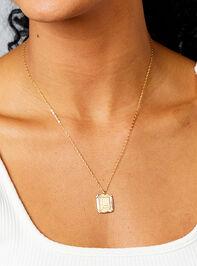 Burst Tag Monogram Necklace - L Detail 2 - Altar'd State