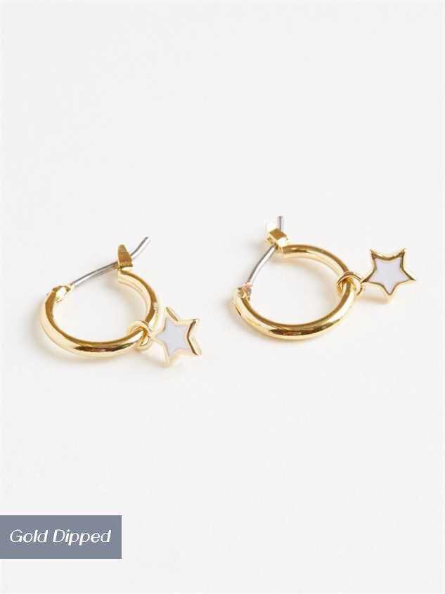 Shining Bright Mini-Hoop Earrings - Altar'd State