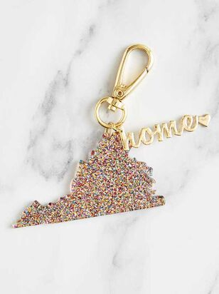 Home Glitter Keychain - Virginia - Altar'd State
