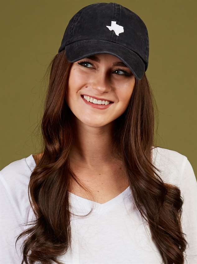 Our Home Canvas Baseball Hat - Texas Detail 2 - Altar'd State