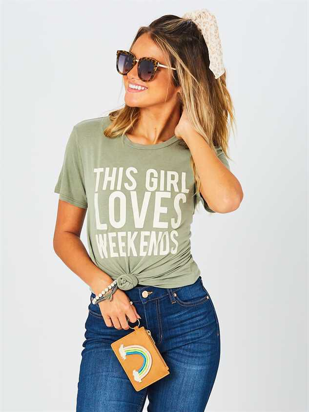 This Girl Loves Weekends Top - Altar'd State