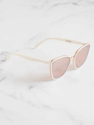 Layla Sunglasses - White - Altar'd State