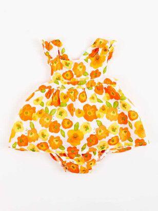 Tullabee Orange Florals Sunsuit Set - Altar'd State