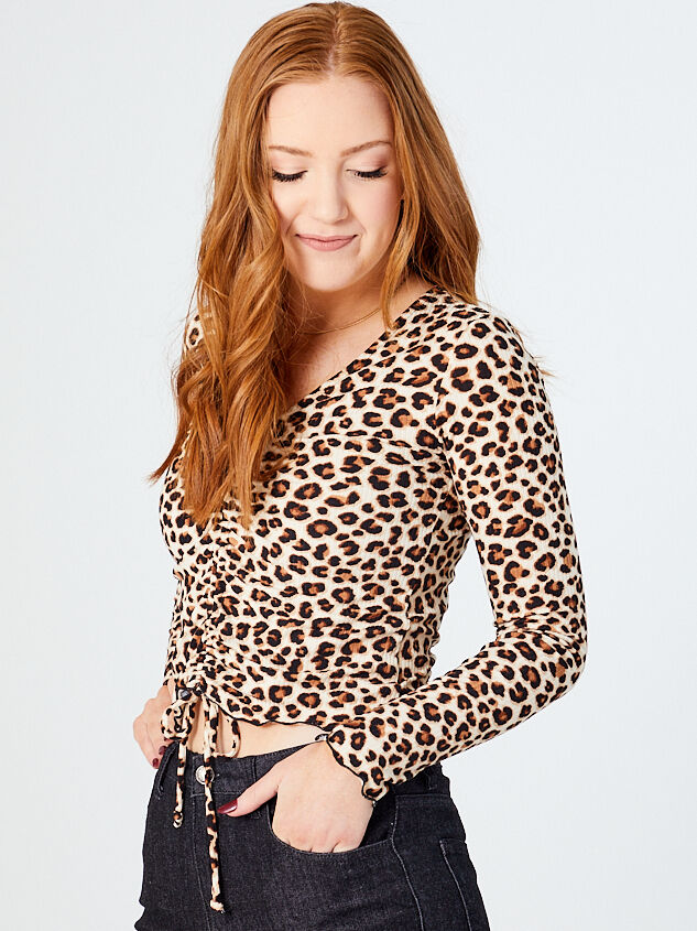 Chanel Long Sleeve Leopard Top Detail 2 - Altar'd State