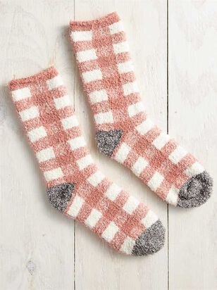 Rose Antique Plaid Socks - Altar'd State