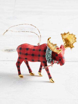 Plaid Moose Ornament - Altar'd State