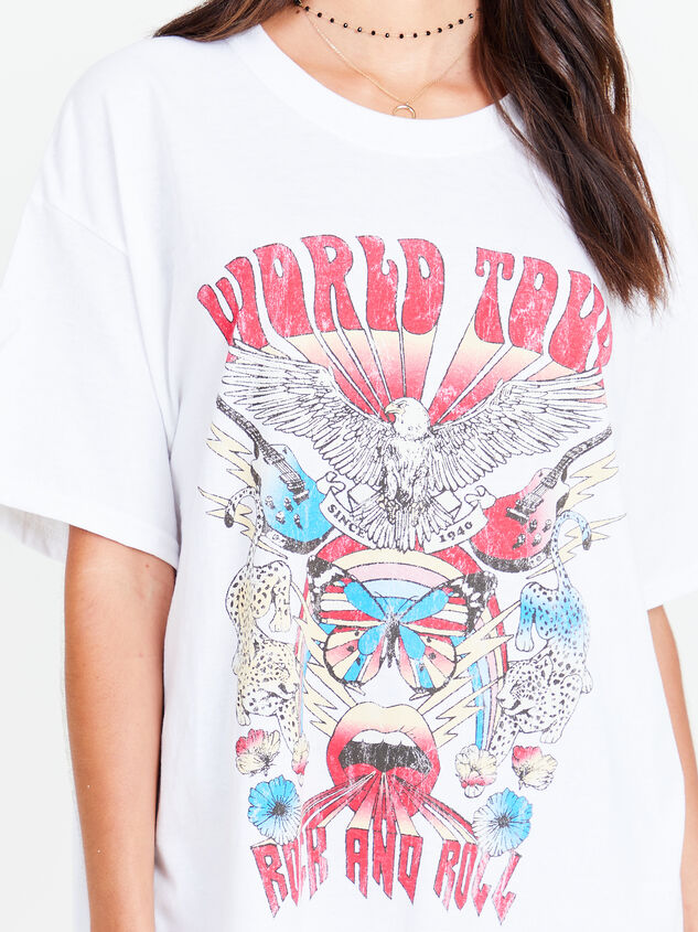 Rock n' Roll World Tour Oversized Tee Detail 4 - Altar'd State