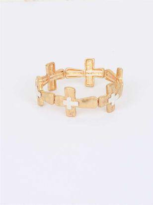 Skinny Sideways Cross Bracelet - Altar'd State