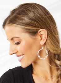 Dahlia Dangle Earrings - Ivory Detail 2 - Altar'd State