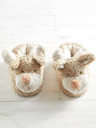 Plush Reindeer Slippers - Altar'd State