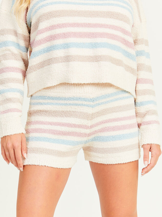 Striped Teddy Lounge Shorts - Altar'd State