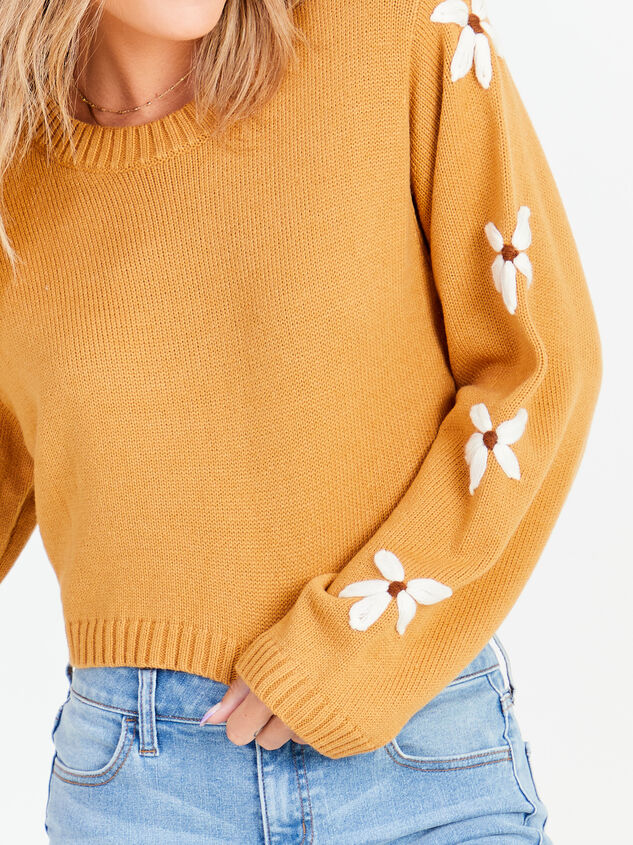 Daisy Cropped Sweater Detail 4 - Altar'd State