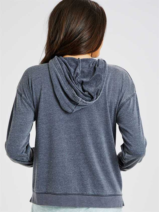 Elliot Hooded Lounge Top Detail 3 - Altar'd State