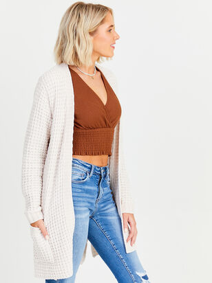 Chenille Waffle Cardigan - Altar'd State