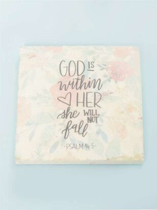 God is Within Her Floral Coaster - Altar'd State
