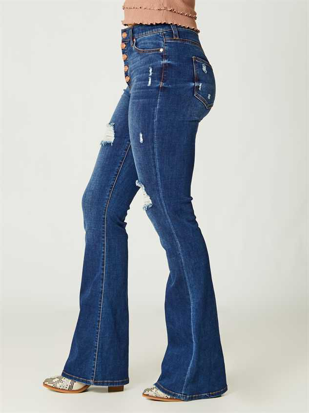 Elliana Flare Jeans Detail 3 - Altar'd State