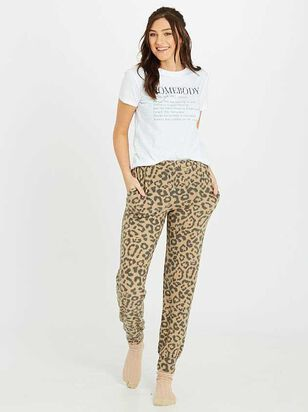 Leopard Lounge Joggers - Altar'd State