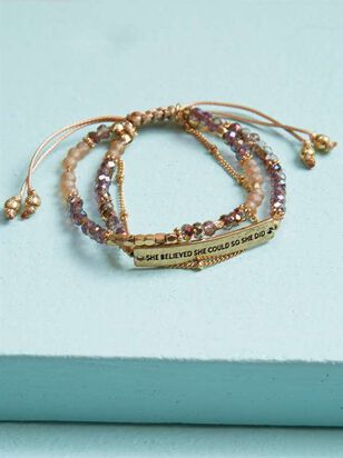 She Believed Bracelet - Altar'd State