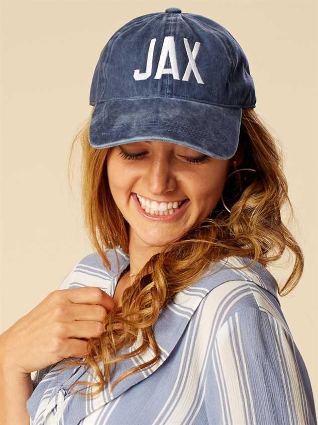 Jacksonville Distressed Baseball Hat Detail 2 - Altar'd State