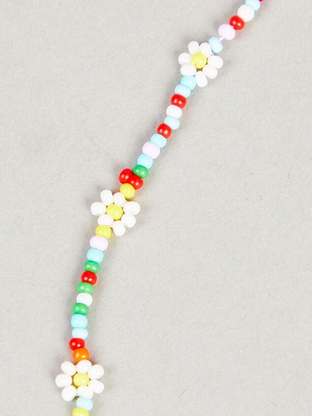 Colorful Daisies Beaded Choker Necklace Detail 2 - Altar'd State