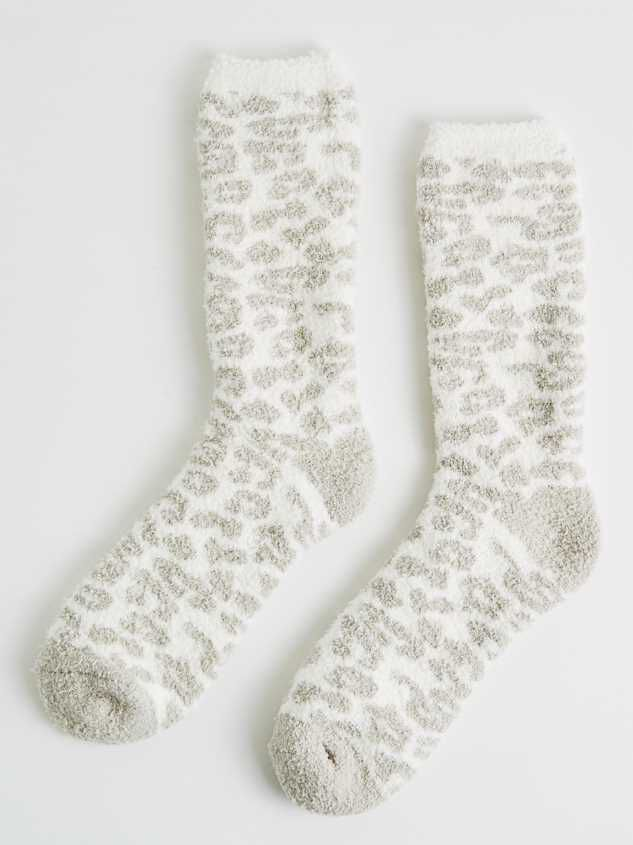 Oh, So Cozy Socks - Cloud Leopard - Altar'd State