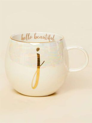 Hello Beautiful Iridescent Monogram Mug - J - Altar'd State