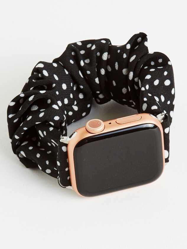 Dalmatian Scrunchie Smart Watch Band - Black - Altar'd State
