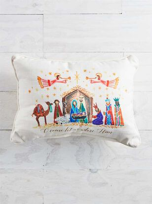 O Come Let Us Adore Him Pillow - Altar'd State