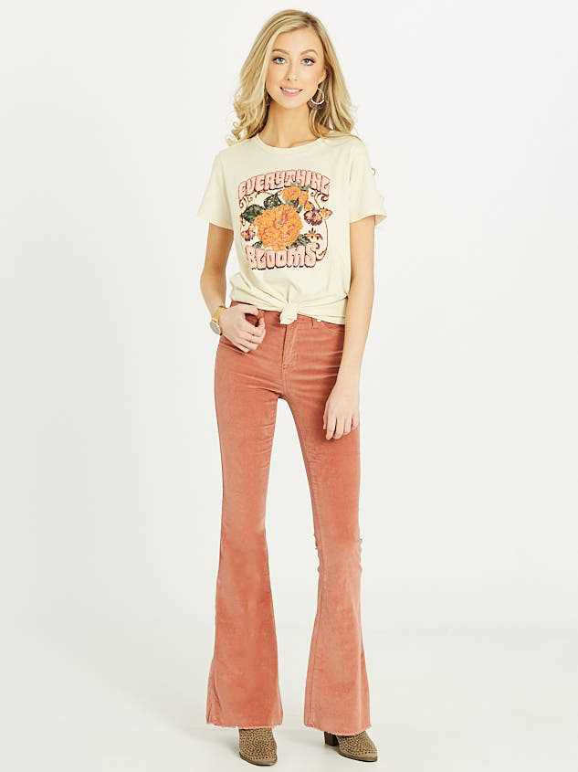 Sienna Cord Flare Pants Detail 2 - Altar'd State