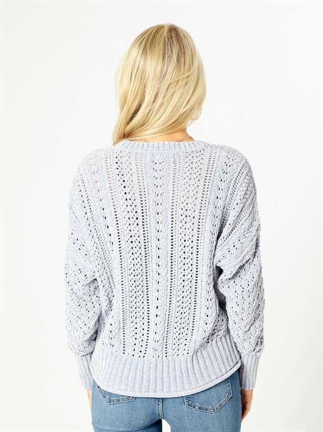 Myra Chenille Sweater Detail 3 - Altar'd State