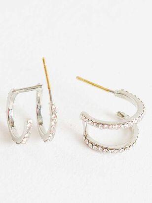 Double Hoop Earrings - Silver - Altar'd State