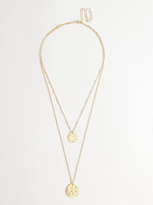 Double Coin Layered Necklace - Altar'd State