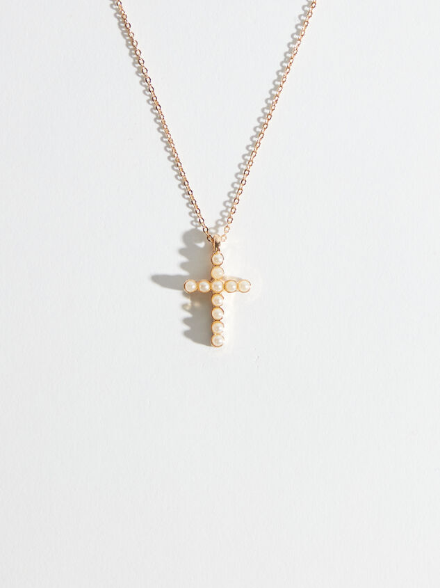 Pearl Cross Necklace - Altar'd State